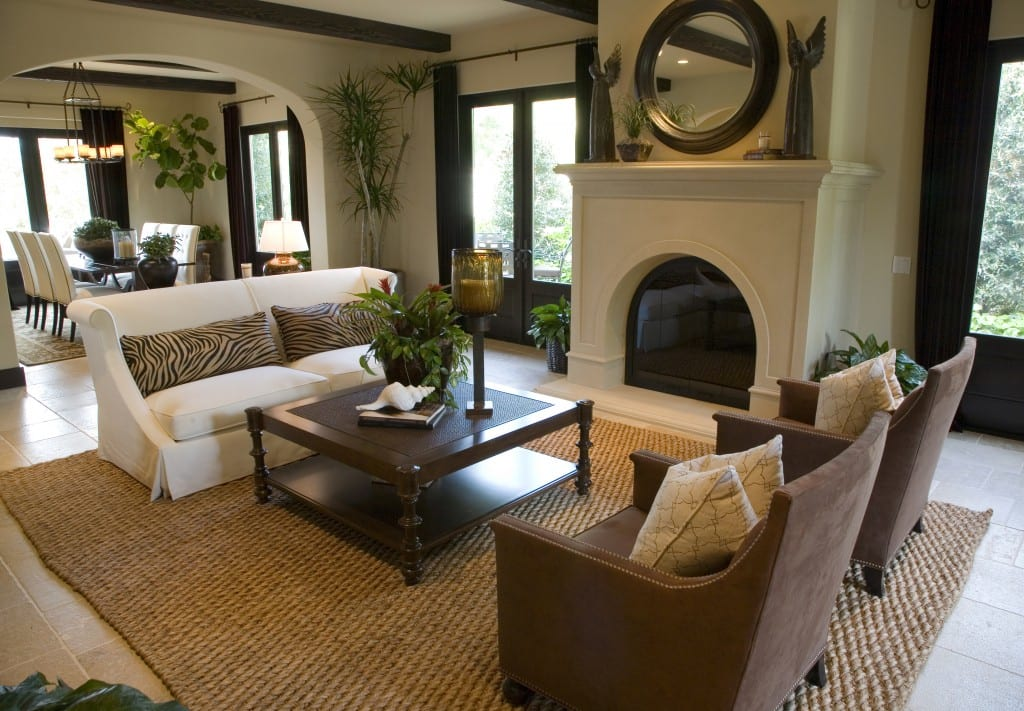 Luxury Home Living Room | Covenant Homes