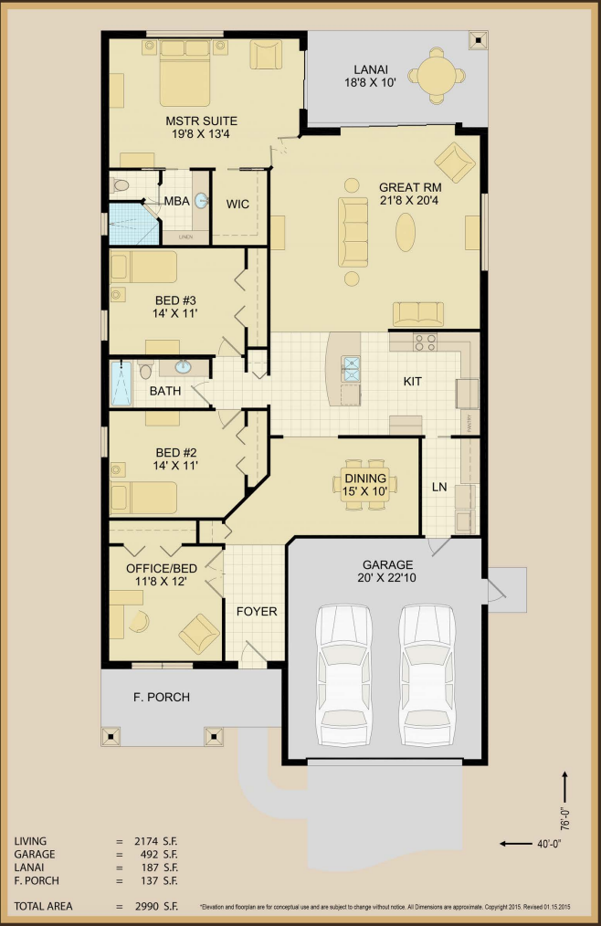 Dolores Floor Plan Specs | Covenant Homes