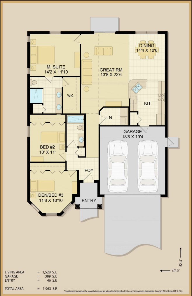 Emmaline Floor Plan Specs | Covenant Homes