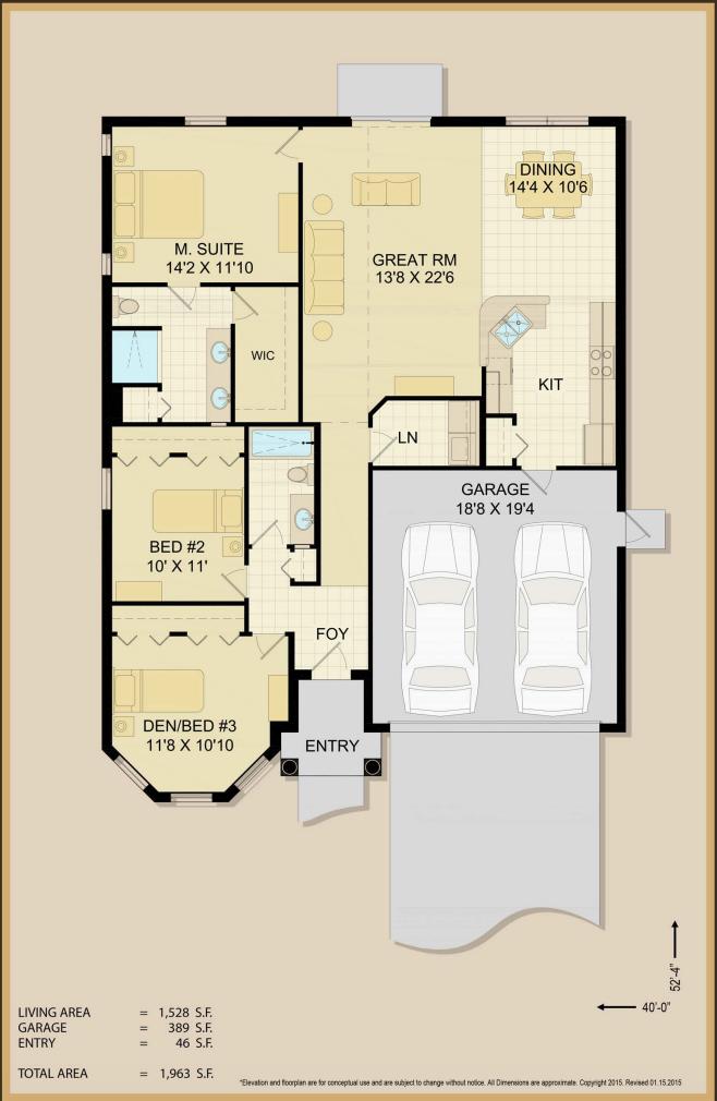 Emmaline Floor Plan Specs | Covenant Homes