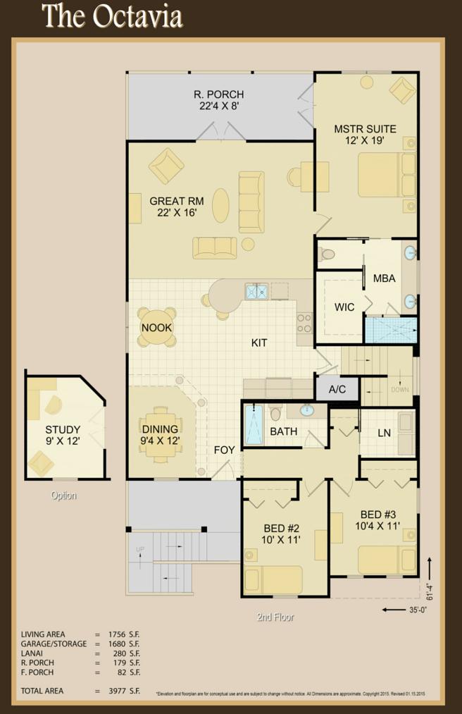 Octavia Second Floor Plan   Covenant Homes