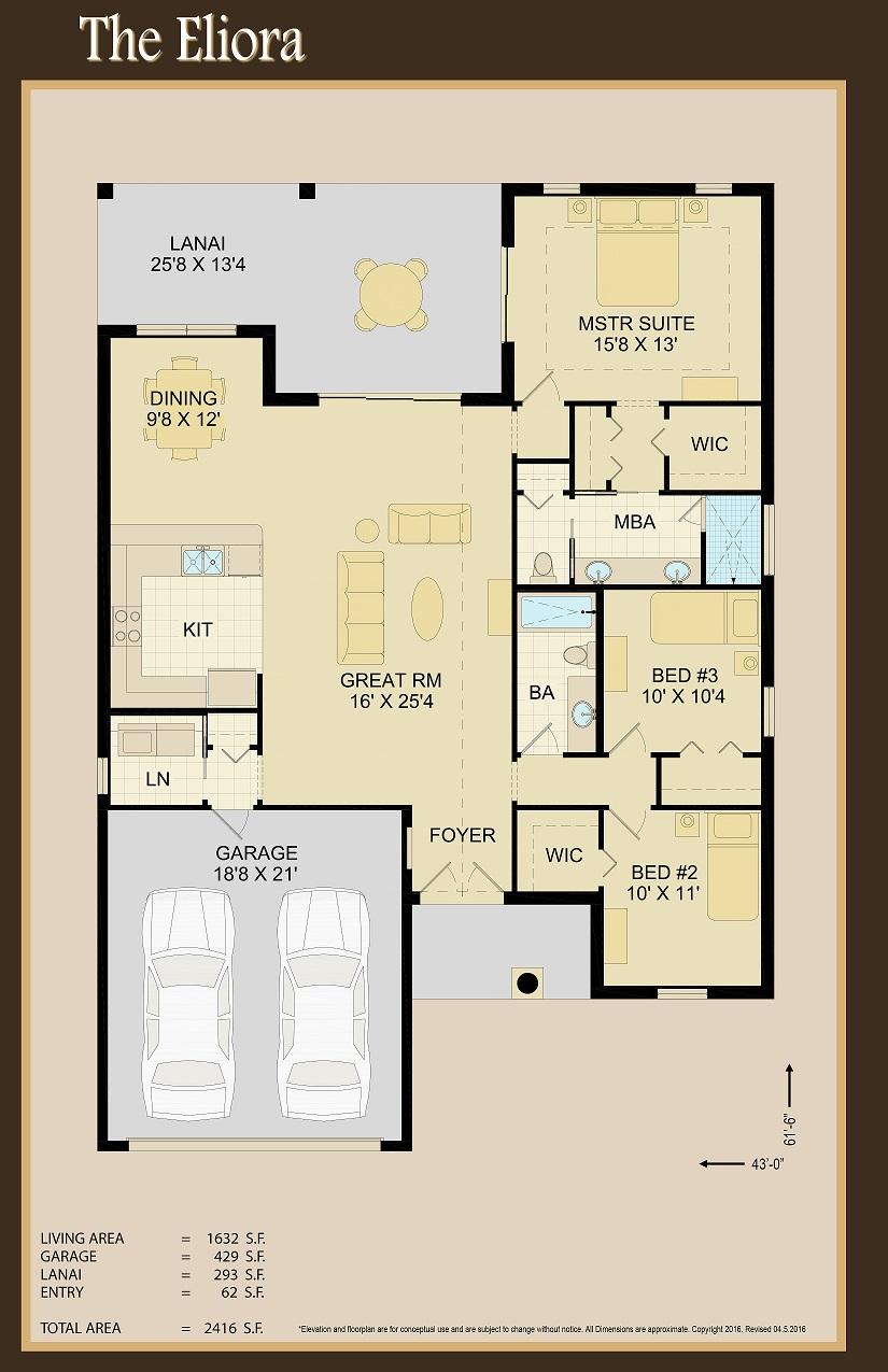 Eliora Floor Plan   Covenant Homes