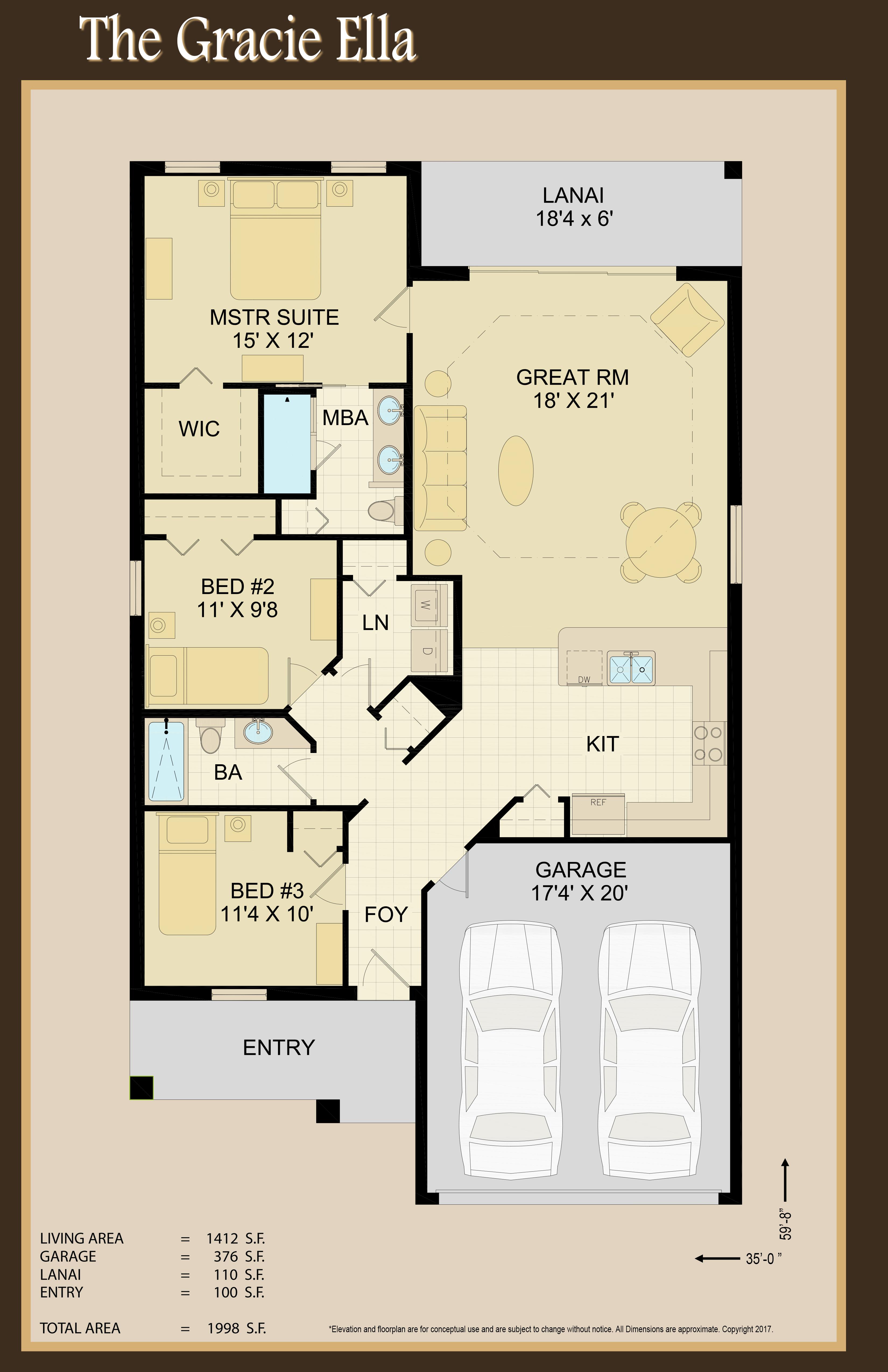 Gracie Ella Floor Plan | Home Model Floor Plan