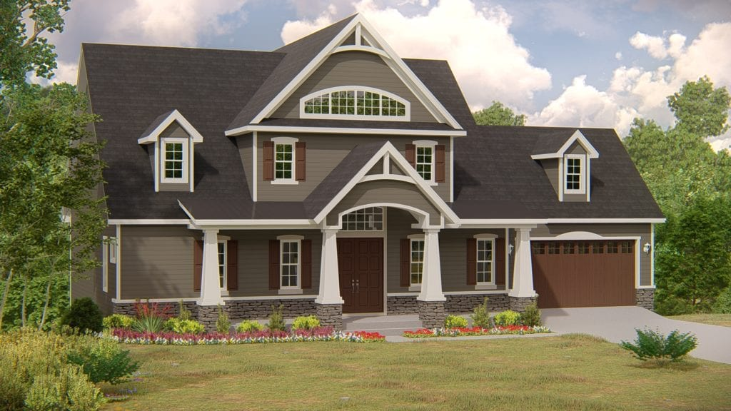 Covenant Homes Custom Home Rendering for North Georgia